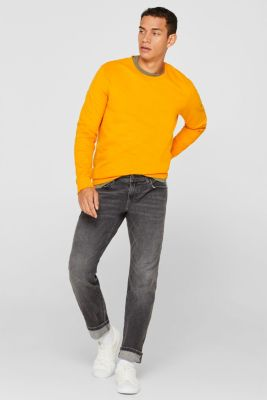 Stretch jeans containing organic cotton, GREY MEDIUM WASH, detail