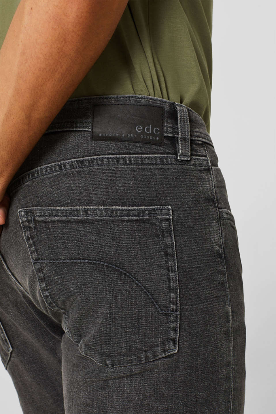 Stretch jeans containing organic cotton, GREY MEDIUM WASH, detail image number 3