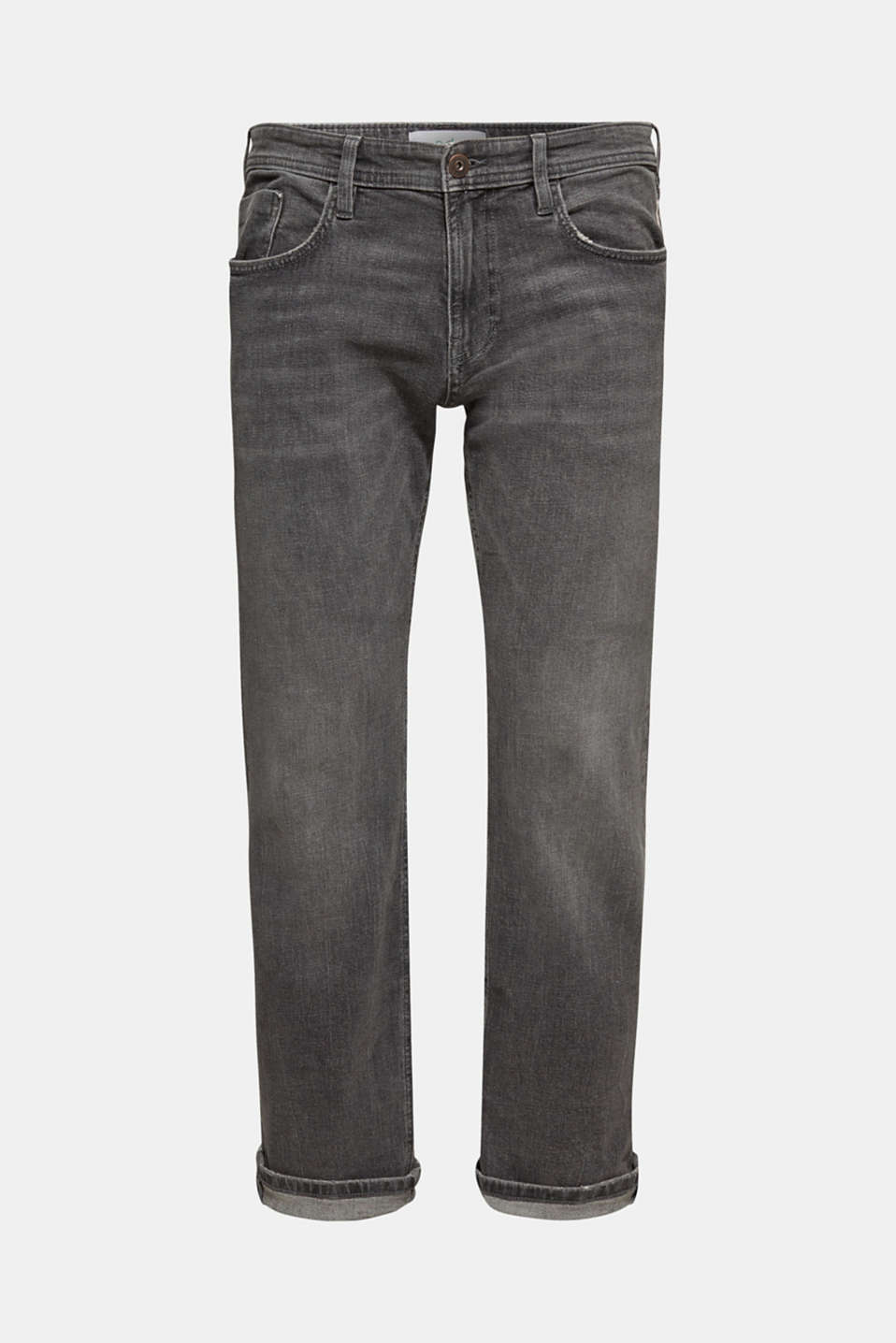 Stretch jeans containing organic cotton, GREY MEDIUM WASH, detail image number 5