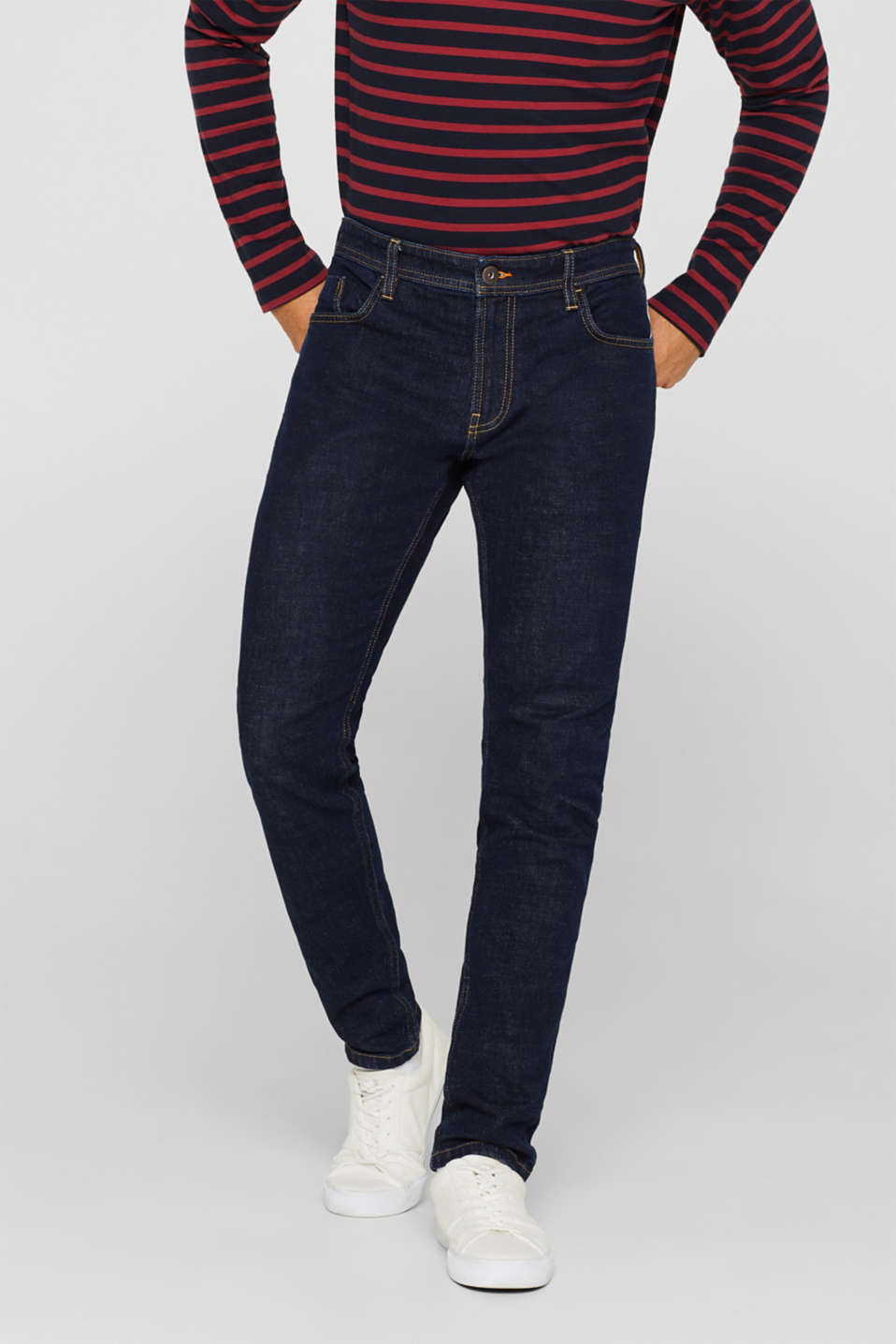 Pants denim, BLUE RINSE, detail image number 0