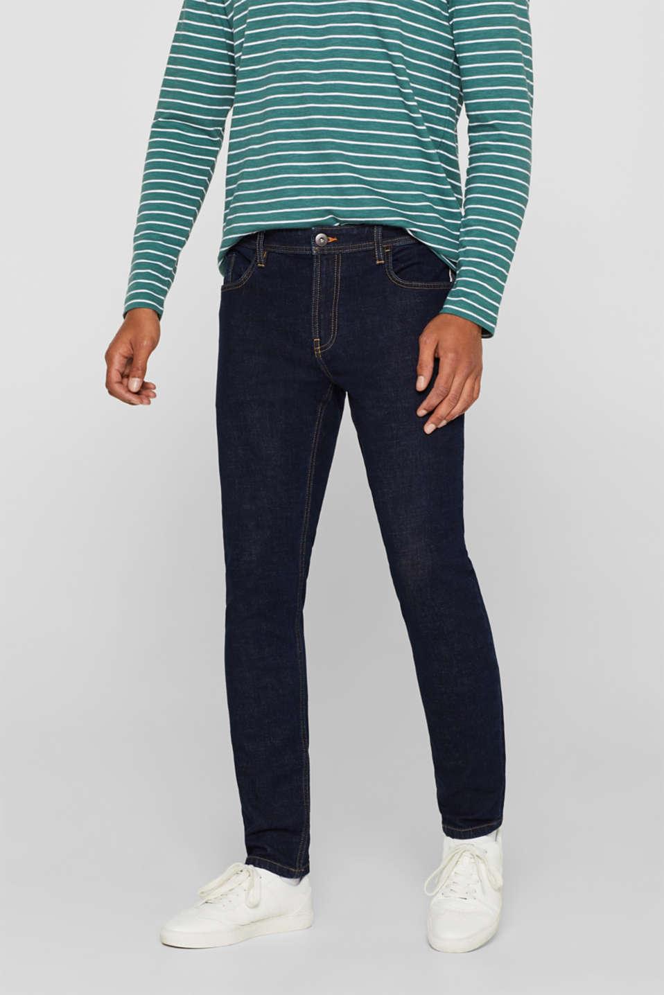 Skinny fit stretch jeans, BLUE DARK WASH, detail image number 0