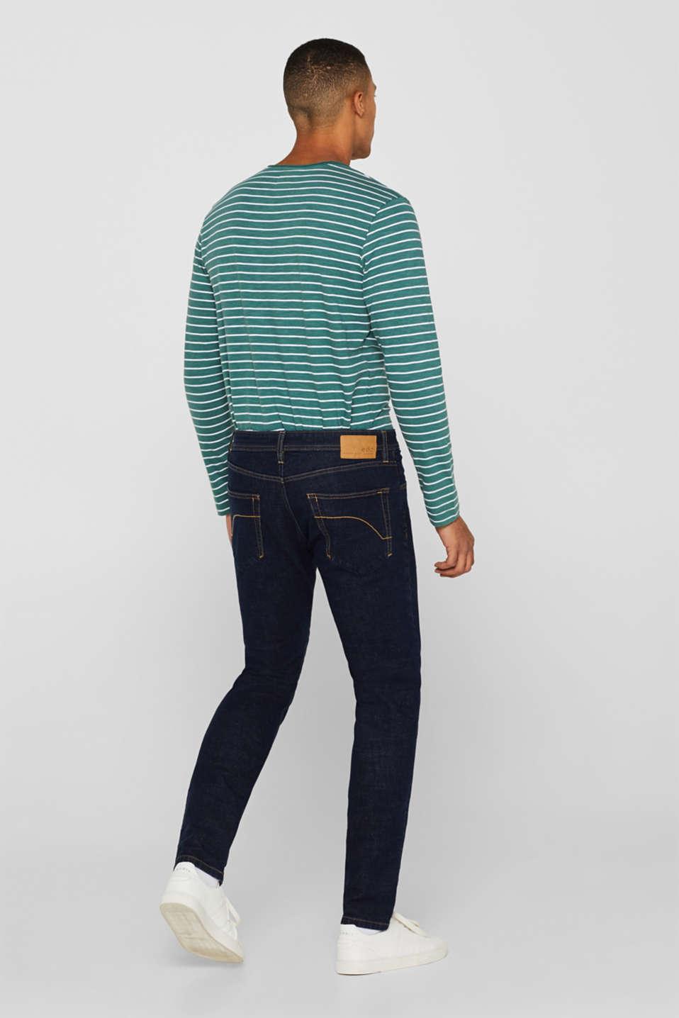 Skinny fit stretch jeans, BLUE DARK WASH, detail image number 1