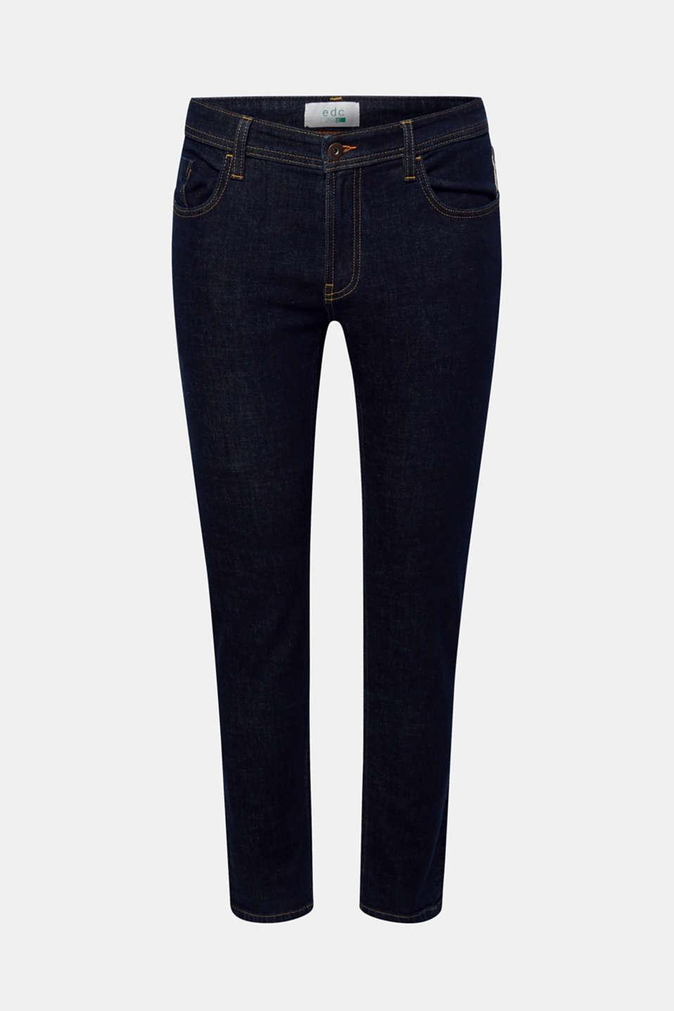 Skinny fit stretch jeans, BLUE DARK WASH, detail image number 5