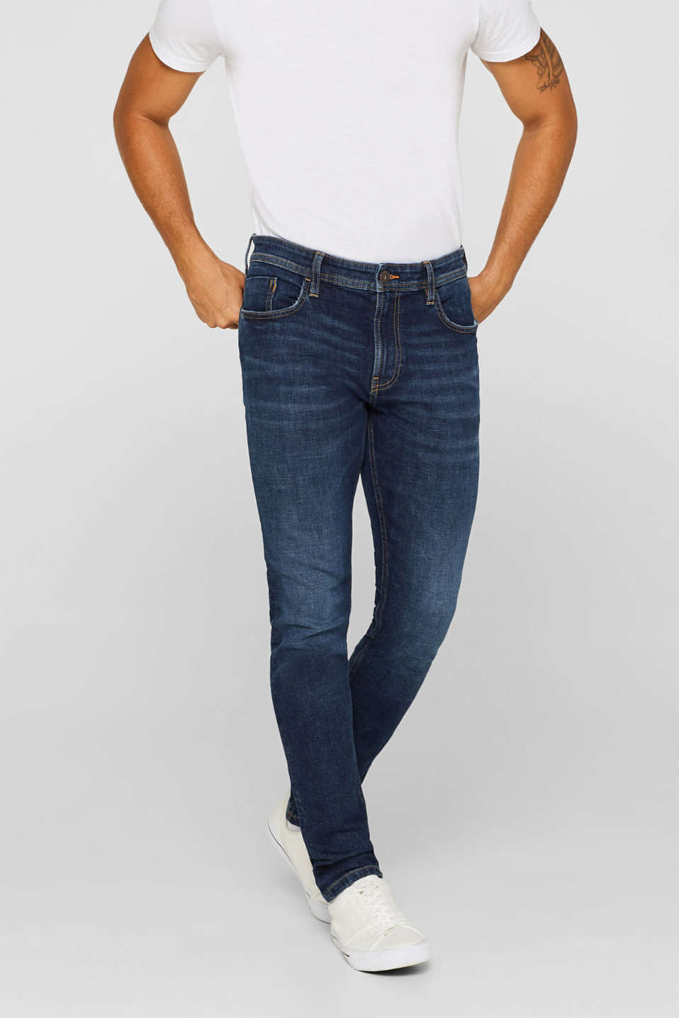 edc - Stretchjeans i smal modell