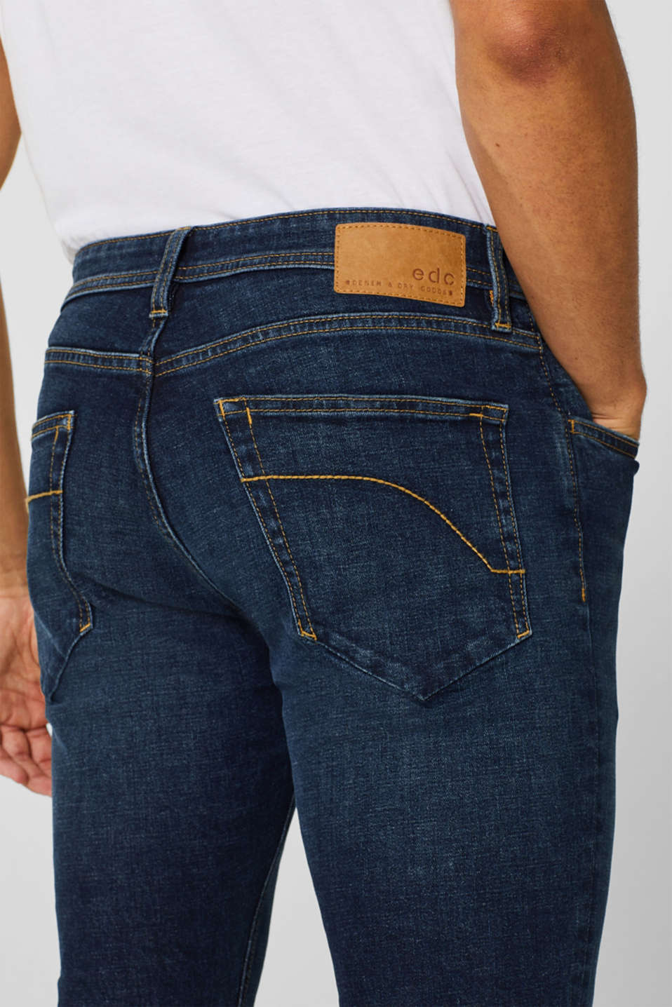 Skinny fit stretch jeans, BLUE MEDIUM WASH, detail image number 3
