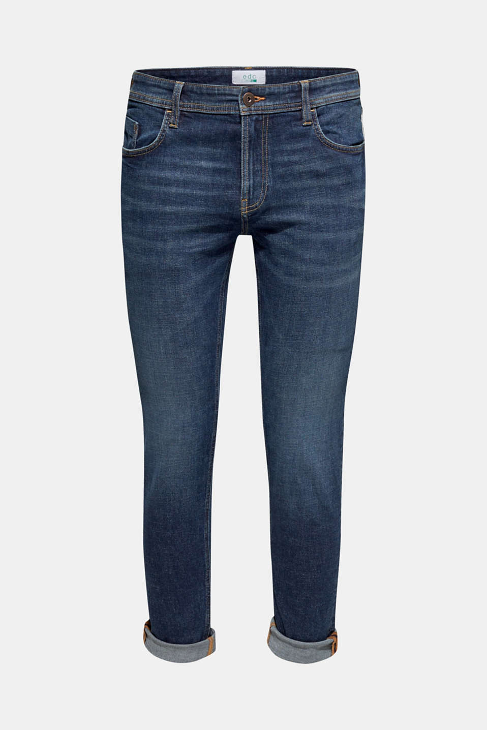 Skinny fit stretch jeans, BLUE MEDIUM WASH, detail image number 5