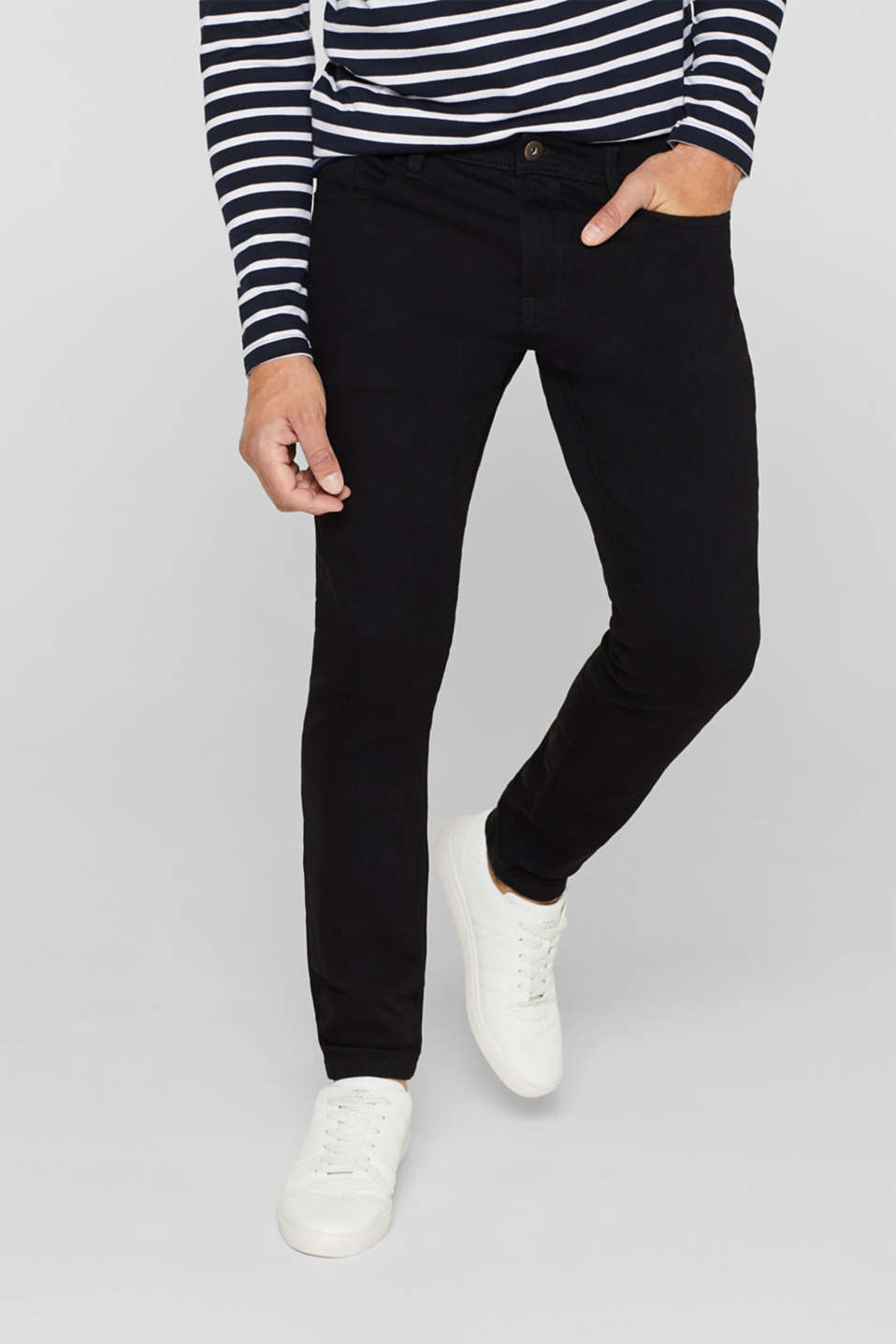 Skinny fit stretch jeans, BLACK RINSE, detail image number 0