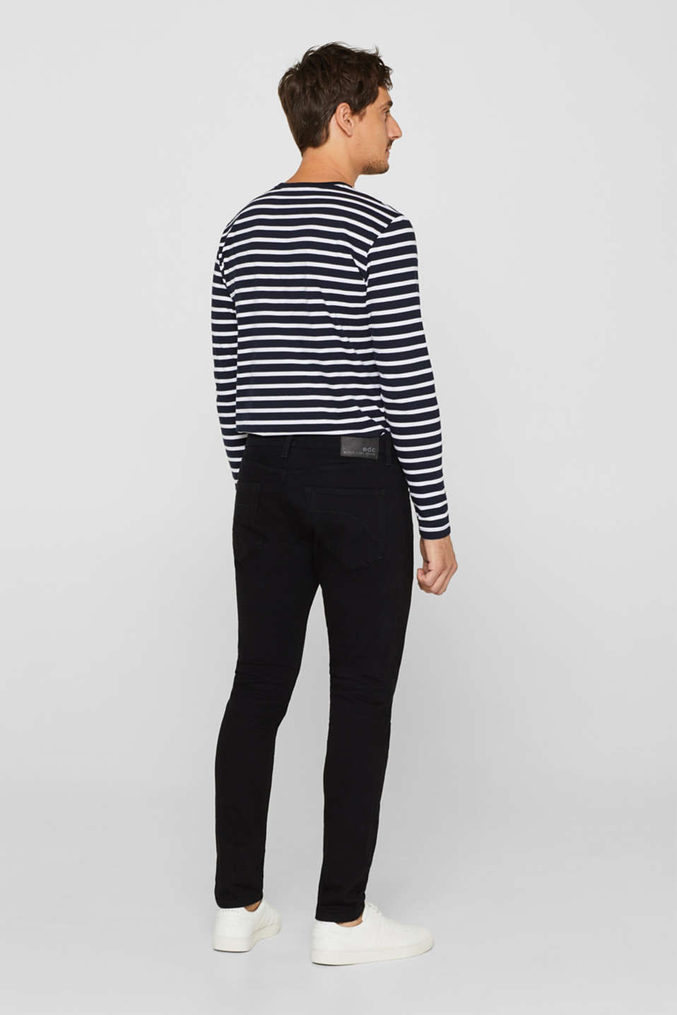 Skinny fit stretch jeans, BLACK RINSE, detail image number 1