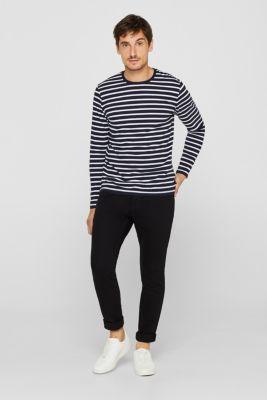 Skinny fit stretch jeans, BLACK RINSE, detail