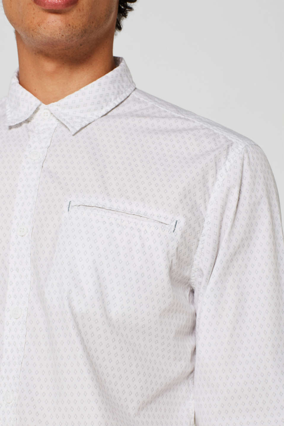 Shirts woven Slim fit, WHITE, detail image number 5