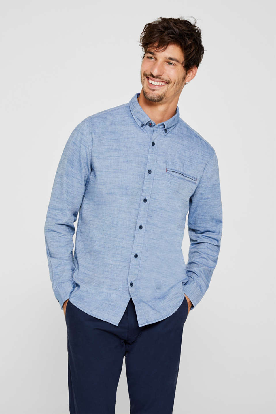 edc - Chambray shirt in 100% cotton