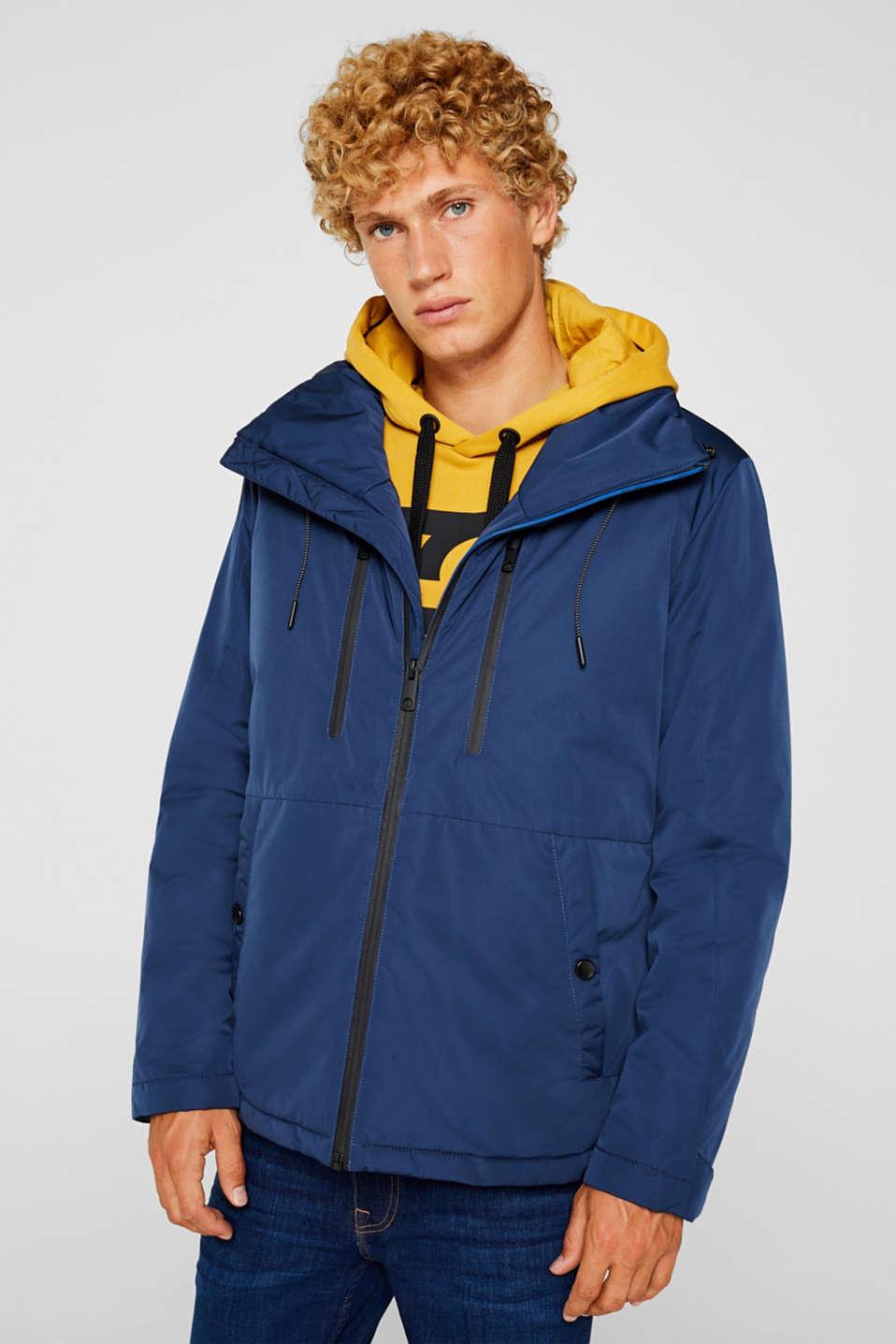 Outdoor jacket with DuPont™ Sorona®, BLUE, detail image number 0