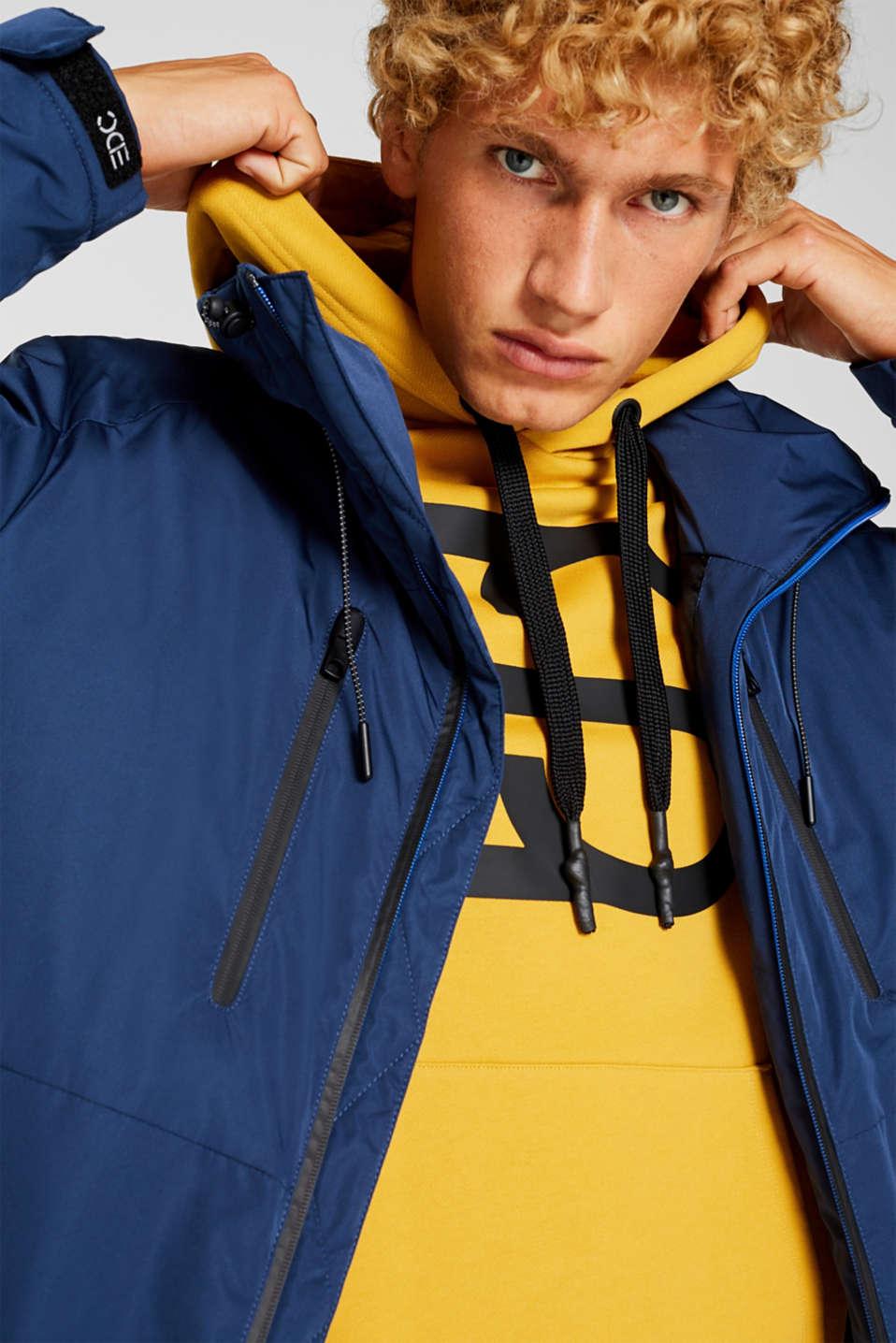 Outdoor jacket with DuPont™ Sorona®, BLUE, detail image number 4