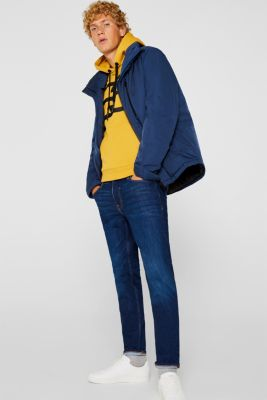 Outdoor jacket with DuPont™ Sorona®, BLUE, detail