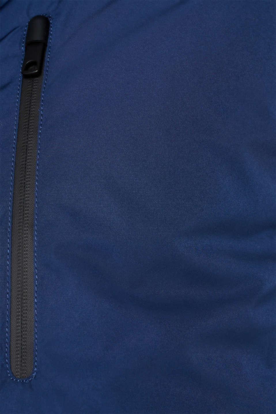 Outdoor jacket with DuPont™ Sorona®, BLUE, detail image number 5