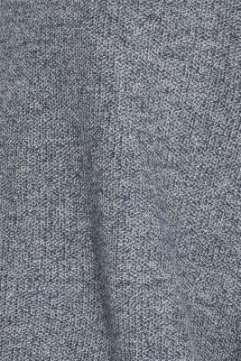 With linen: Layered-look jumper