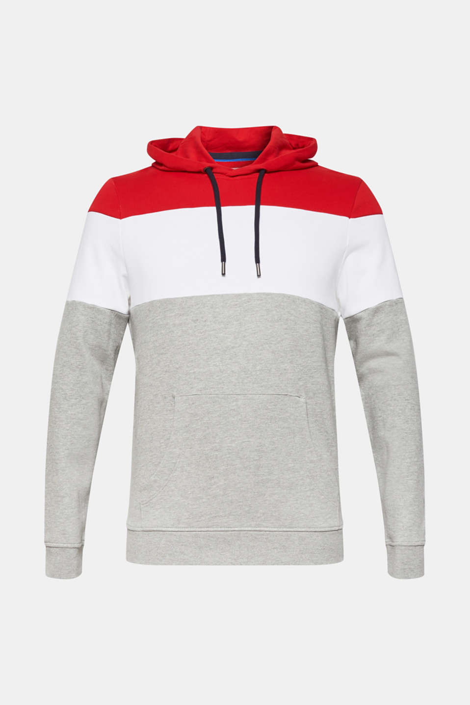 Hoodie with colour block elements, DARK RED, detail image number 6