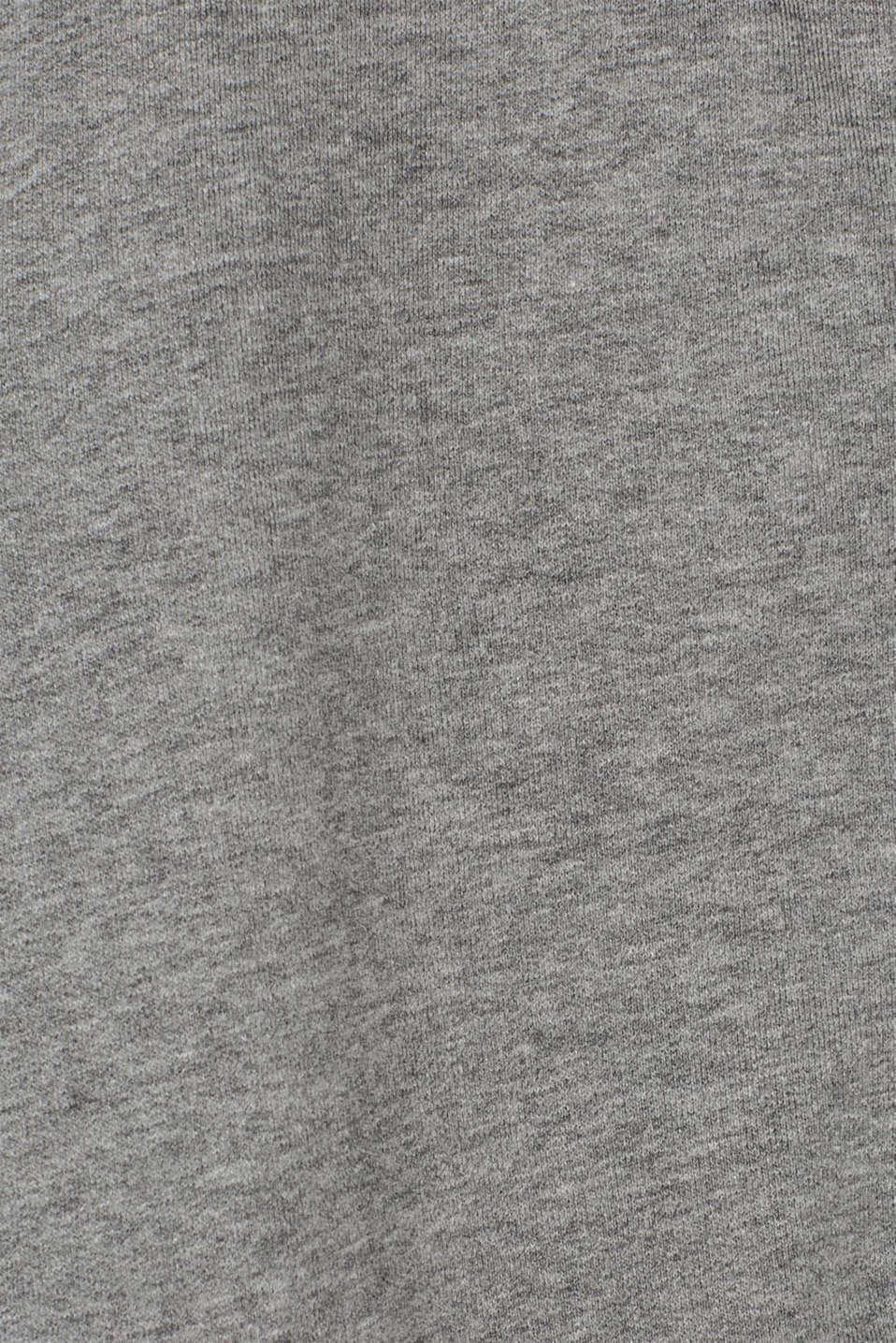 Cotton blend sweatshirt cardigan, MEDIUM GREY, detail image number 4