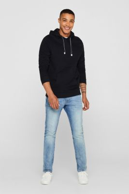 Hoodie in 100% cotton, BLACK, detail