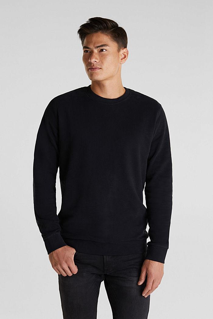 Sweatshirt i 100% bomull, BLACK, detail image number 0