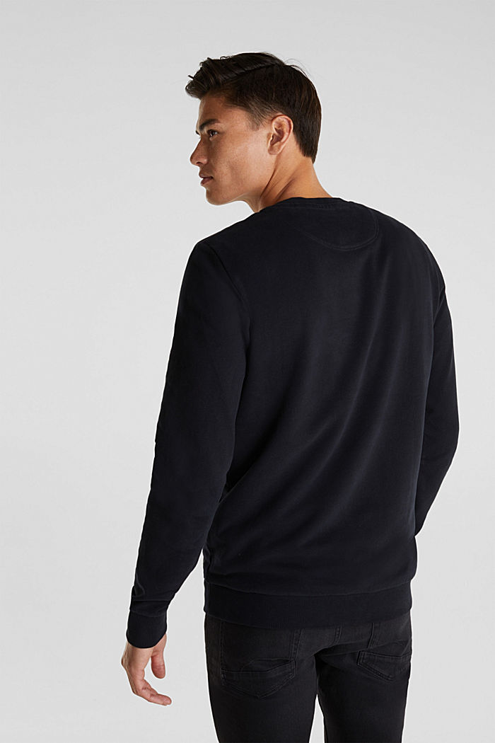 Sweatshirt i 100% bomull, BLACK, detail image number 2