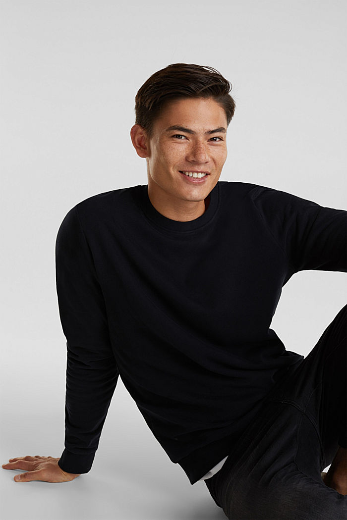 Sweatshirt i 100% bomull, BLACK, detail image number 4
