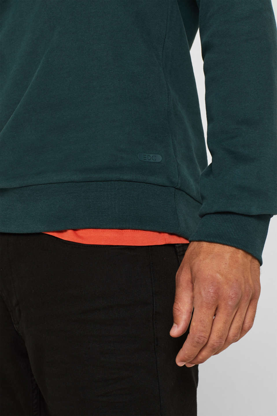Sweatshirt in 100% cotton, BOTTLE GREEN, detail image number 2