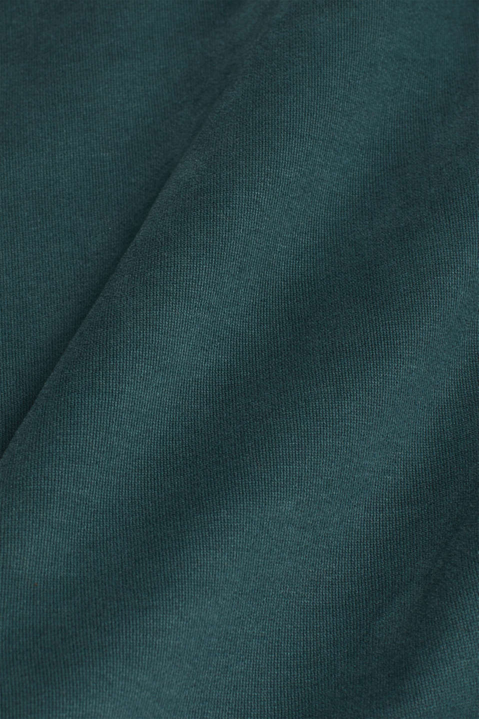 Sweatshirt in 100% cotton, BOTTLE GREEN, detail image number 4