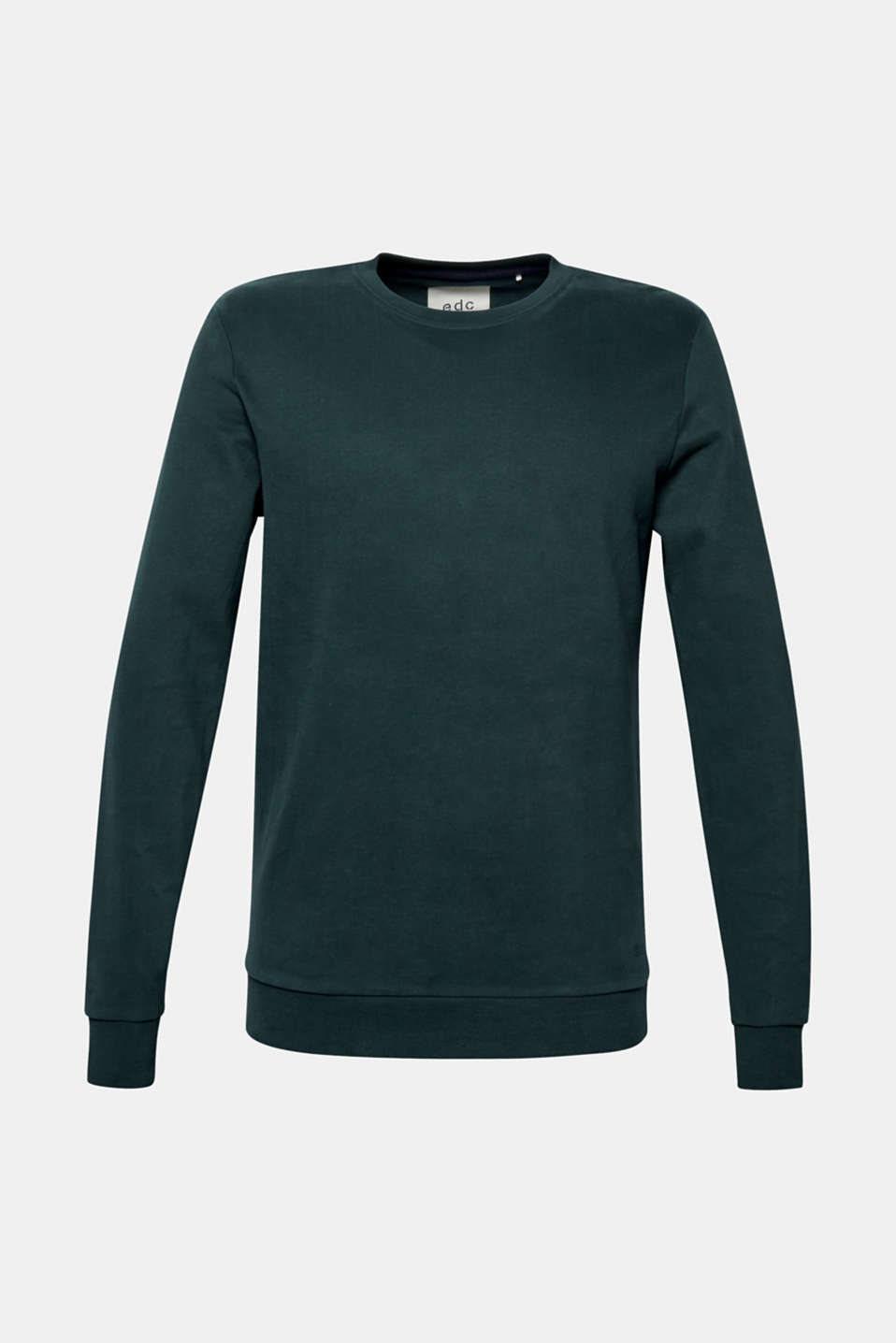 Sweatshirt in 100% cotton, BOTTLE GREEN, detail image number 5