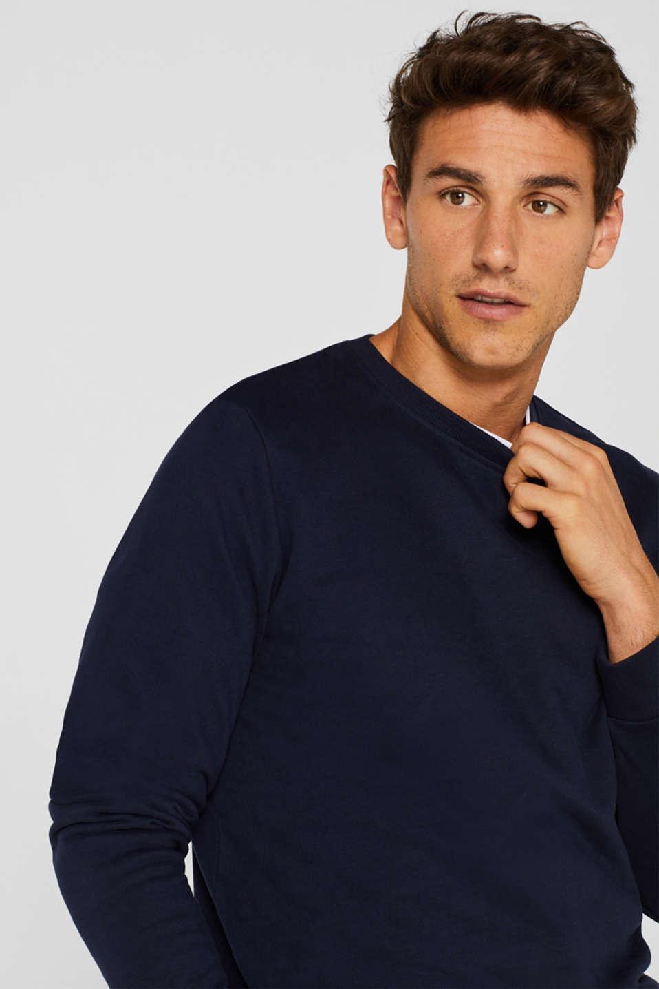 Sweatshirt in 100% cotton, NAVY, detail image number 5