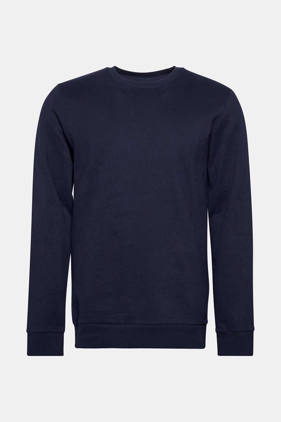 Sweatshirt in 100% cotton, NAVY, detail image number 7