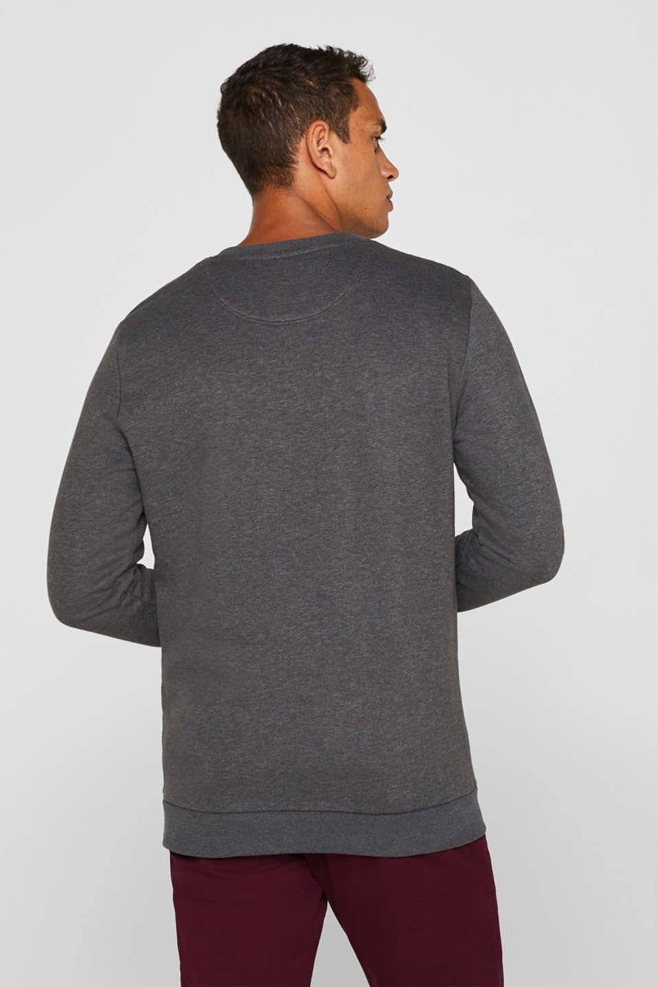 Blended cotton sweatshirt, DARK GREY, detail image number 2
