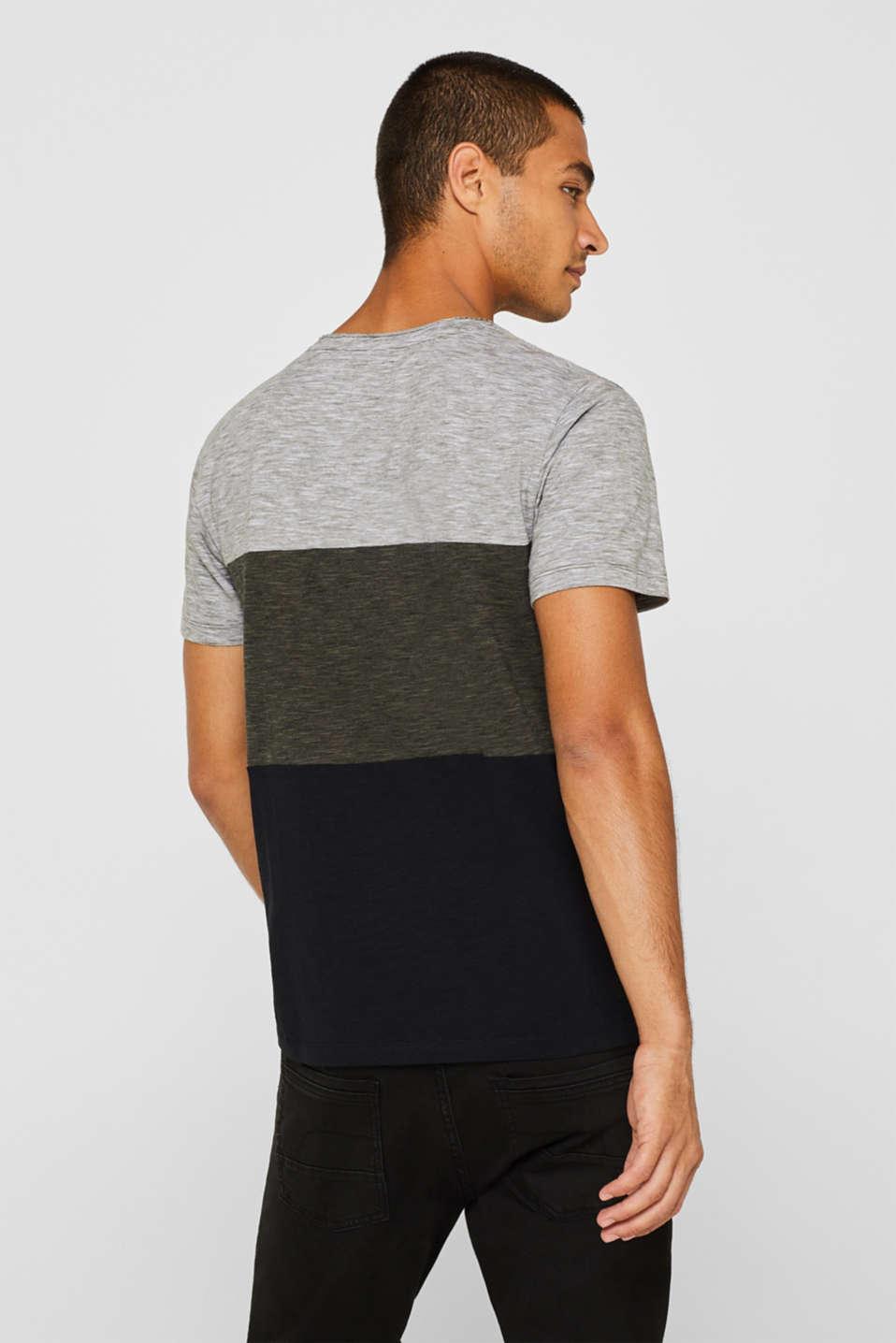 Slub jersey T-shirt in 100% cotton, DARK KHAKI, detail image number 3