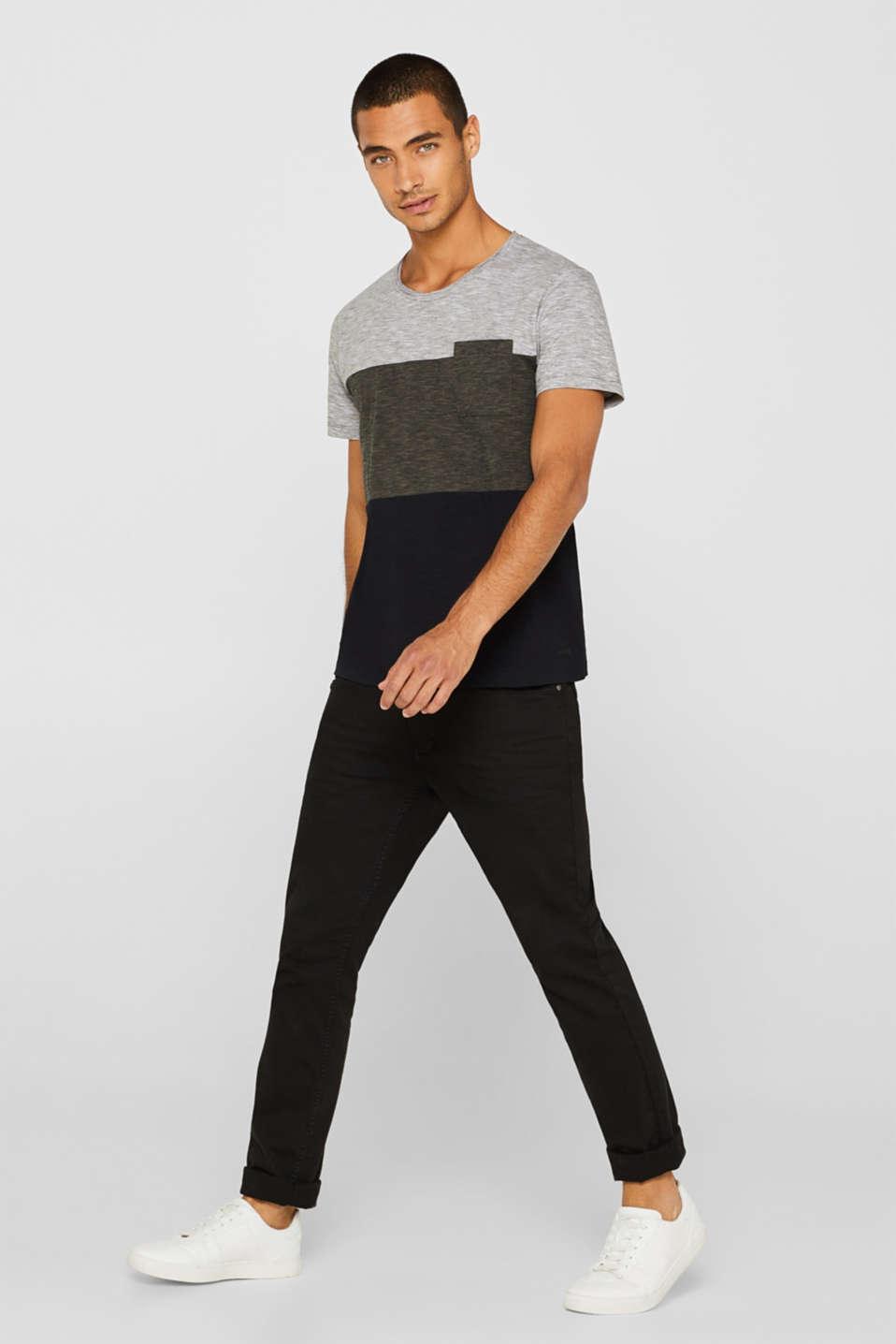 Slub jersey T-shirt in 100% cotton, DARK KHAKI, detail image number 2