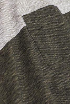 Slub jersey T-shirt in 100% cotton, DARK KHAKI, detail