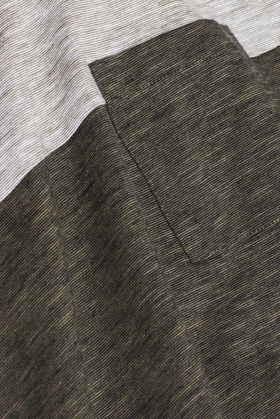 Slub jersey T-shirt in 100% cotton, DARK KHAKI, detail image number 4