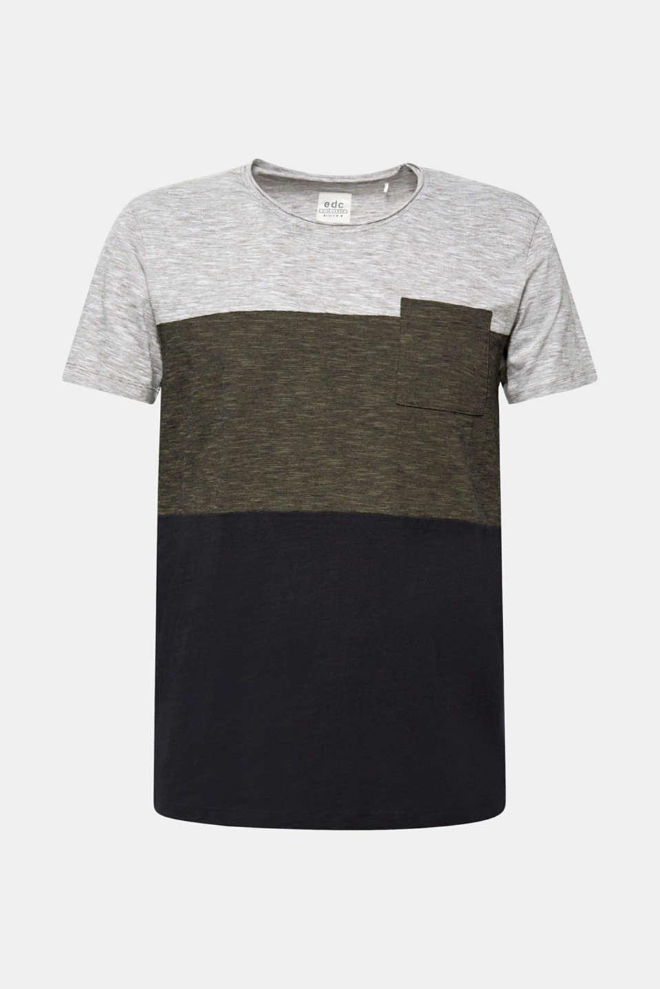 Slub jersey T-shirt in 100% cotton, DARK KHAKI, detail image number 6