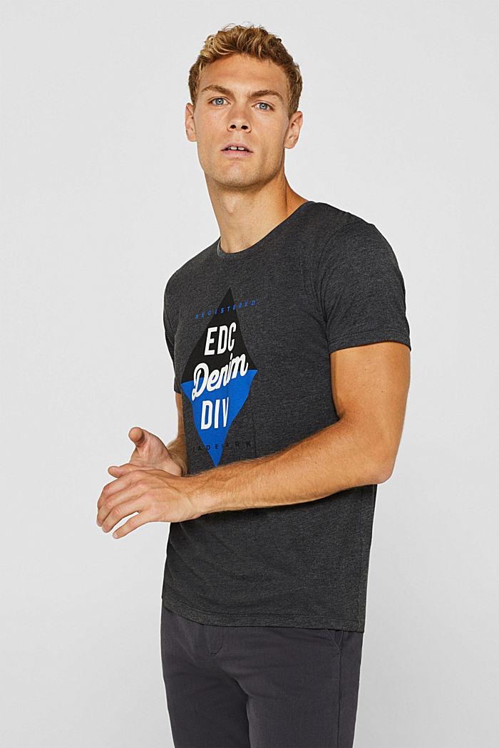 Jersey logo T-shirt, 100% cotton, DARK GREY, detail image number 0