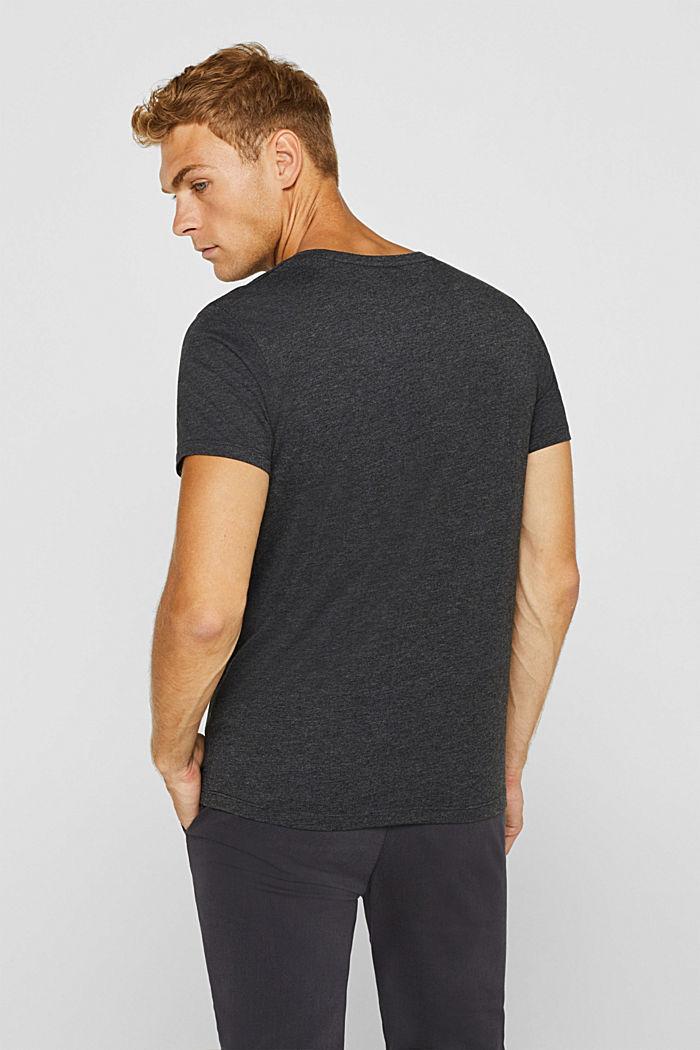 Jersey logo T-shirt, 100% cotton, DARK GREY, detail image number 3
