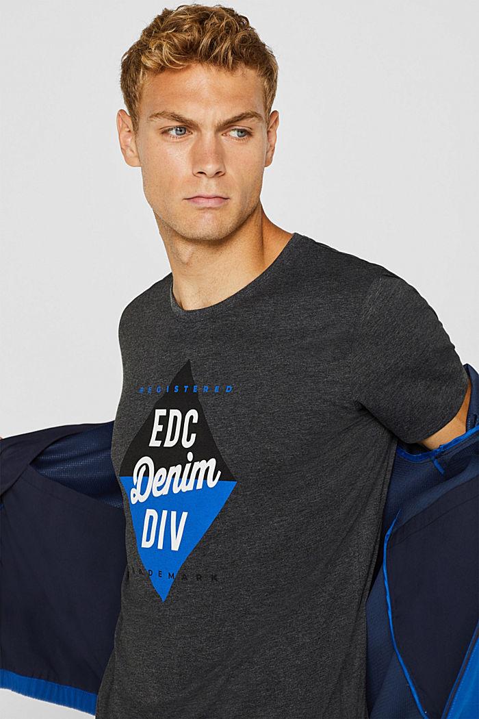 Jersey logo T-shirt, 100% cotton, DARK GREY, detail image number 1
