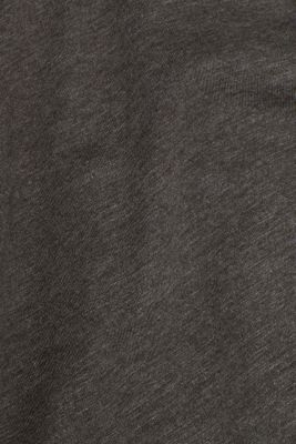 Slub jersey long sleeve top in blended cotton, ANTHRACITE, detail