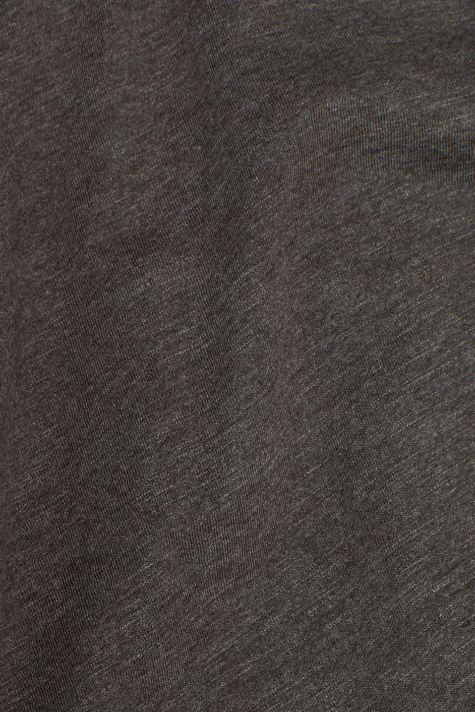 Slub jersey long sleeve top in blended cotton, ANTHRACITE, detail image number 5