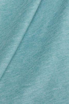 Slub jersey long sleeve top in blended cotton, DUSTY GREEN, detail