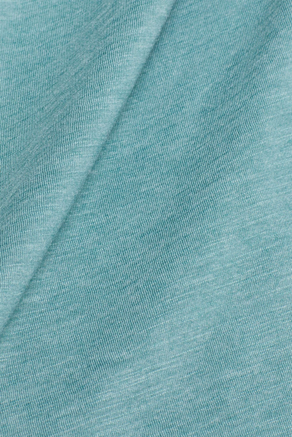 Slub jersey long sleeve top in blended cotton, DUSTY GREEN, detail image number 4