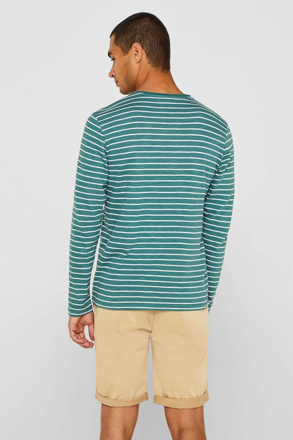 Jersey longsleeve top made of slub jersey, DUSTY GREEN, detail image number 3