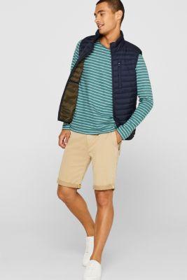 Jersey longsleeve top made of slub jersey, DUSTY GREEN, detail