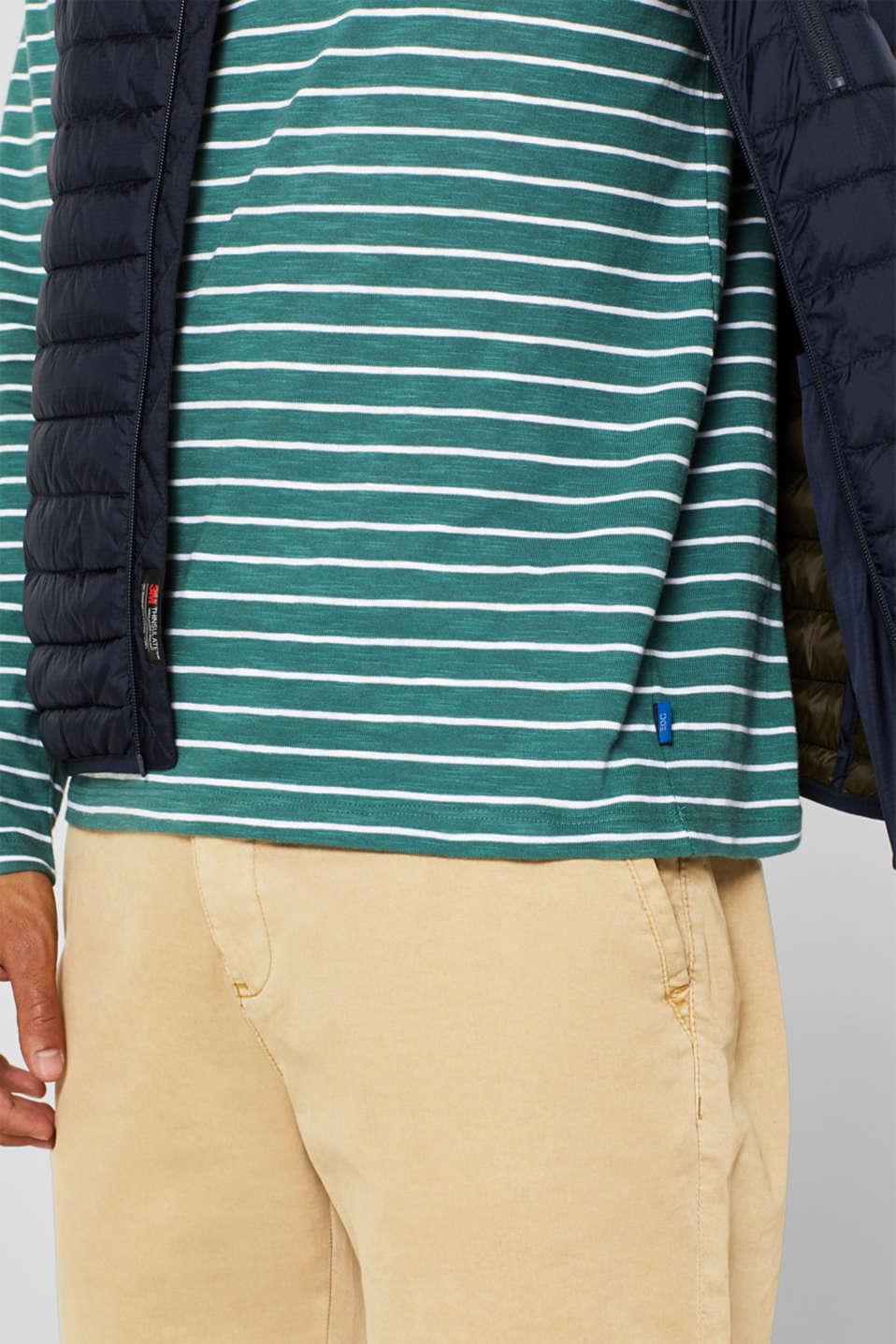 Jersey longsleeve top made of slub jersey, DUSTY GREEN, detail image number 1
