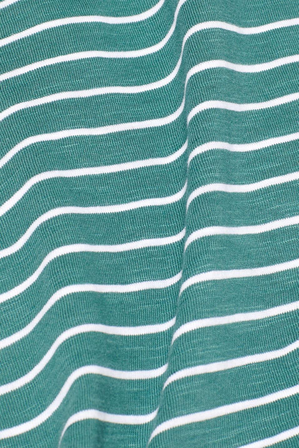Jersey longsleeve top made of slub jersey, DUSTY GREEN, detail image number 4
