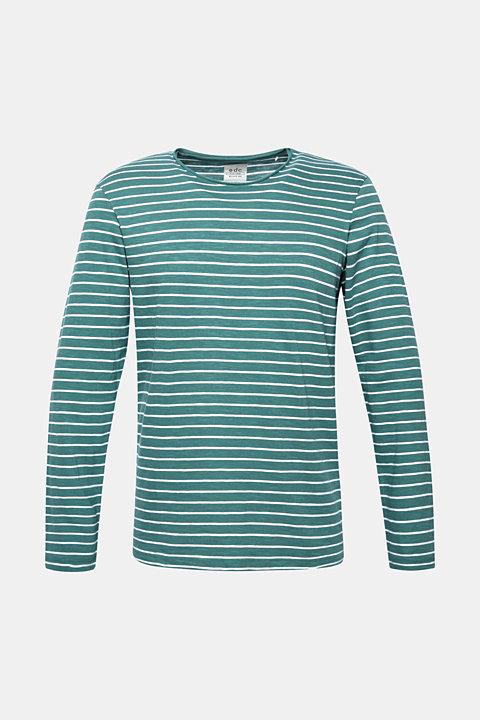Jersey longsleeve top made of slub jersey