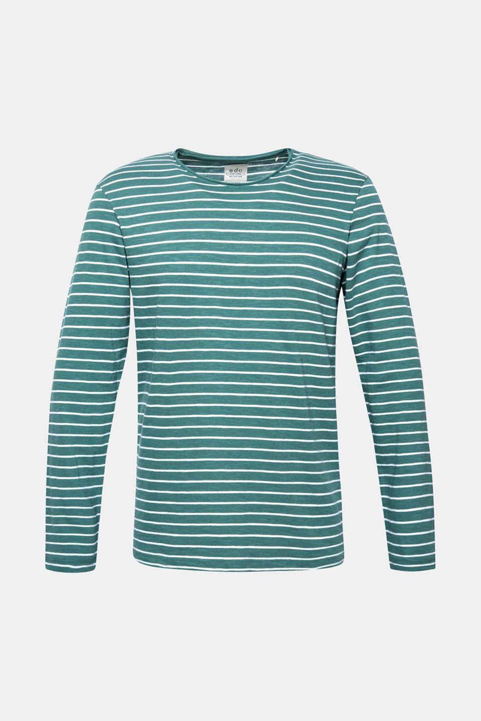 Jersey longsleeve top made of slub jersey, DUSTY GREEN, detail image number 5